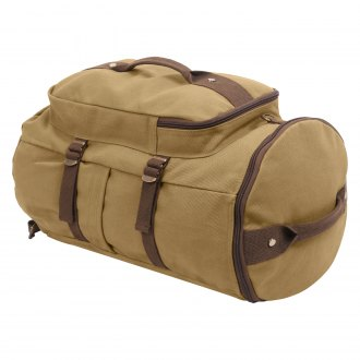 "Rothco® - Convertible 19"" Coyote and Brown Canvas Duffle/Backpack"