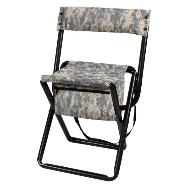 Rothco® - ACU Digital Camo Deluxe Camo Stool with Pouch Back