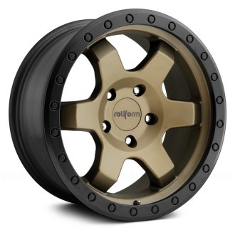 ROTIFORM® - SIX OFFROAD Matte Black with Bronze Face and Bead Ring