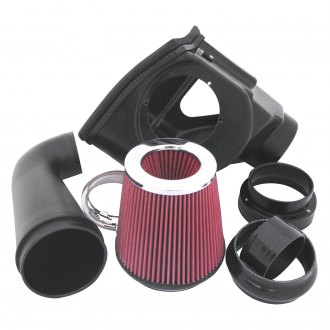 Roto-Fab® - Plastic Black Cold Air Intake System with Oiled Red Filter