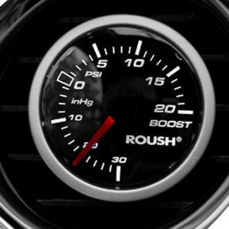 "ROUSH Performance® - 2-1/16"" Black Mechanical Boost Gauge"