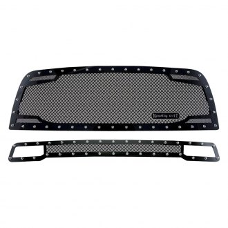Royalty Core® - 2-Pc RC2 Twin Mesh Design Satin Black 10.0 Power Mesh Grille