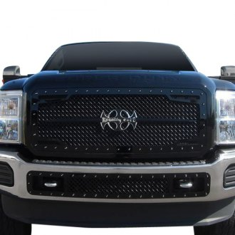 Royalty Core® - 2-Pc RC2 Twin Mesh Design Satin Black 5.0 Super Mesh Grille
