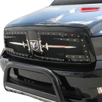 Royalty Core® - 2-Pc RC3DX Innovative Design Satin Black 10.0 Power Mesh Grille