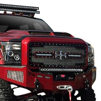 Royalty Core® - 1-Pc RC2X LED X-Treme Dual Design Custom Painted Mesh Grille