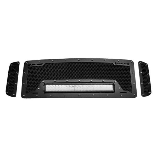 Royalty Core® - 1-Pc RCRX LED Race Line Design Custom Painted Mesh Main Grille