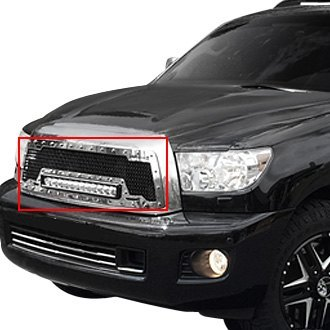 Royalty Core® - 1-Pc RC1X LED Incredible Design Chrome Mesh Main Grille
