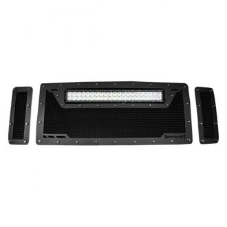 Royalty Core® - 3-Pc RCRX LED Race Line Design Satin Black 12.0 Sport Mesh Grille