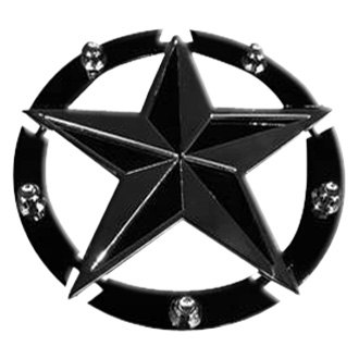 Royalty Core® - Chrome/Gloss Black Texas Star Studded Emblem