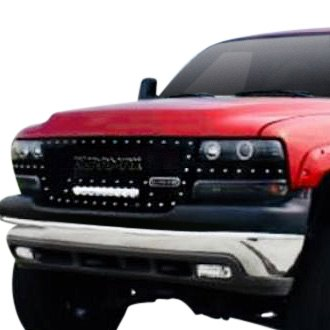 Royalty Core Chevy Silverado 2500 Hd 2001 Rc1x Incredible Led Design Custom Painted Mesh Main Grille