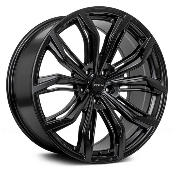 RTX BLACK WIDOW Wheels Satin Black Rims 60D Beauteous 5x105 Bolt Pattern