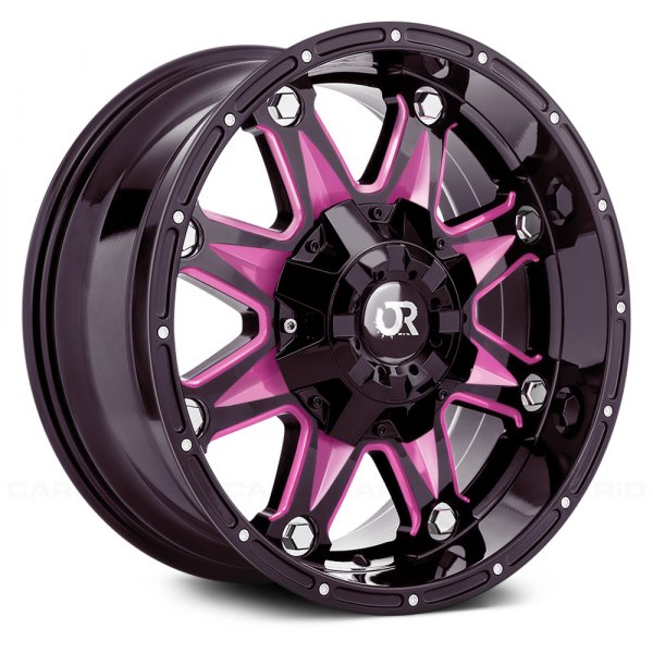 rtx spine wheels gloss black with pink accents rims. Black Bedroom Furniture Sets. Home Design Ideas