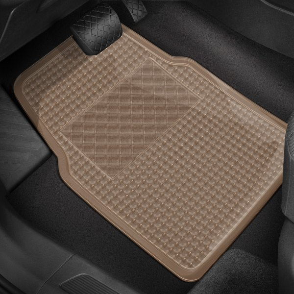 Rubber Queen® - Ultra-Rubber™ 1st & 2nd Row Beige Floor Mats Set