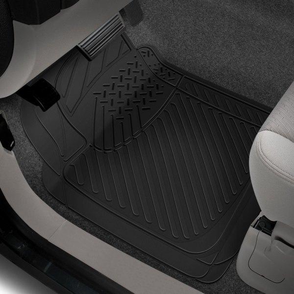 Rubber queen 70901 1st row black truck floor mats for 1 piece floor mats trucks