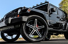 RUFF RACING® - R359 Black with Machined Face on Jeep Wrangler