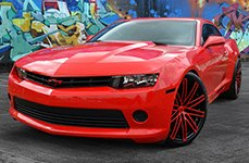 RUFF RACING® - R955 Black with Red Face on Chevy Camaro