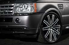RUFF RACING® - R955 Flat Black with Machined Face on Land Rover Range Rover Sport