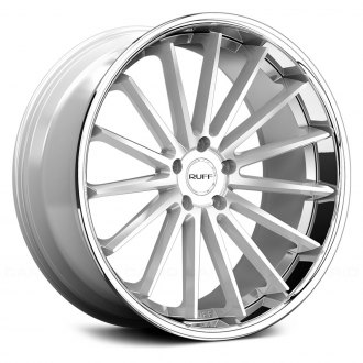 RUFF RACING® - R3 Silver with Chrome Lip