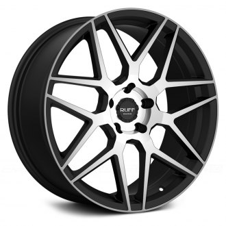 RUFF RACING® - R351 Flat Black with Machined Face