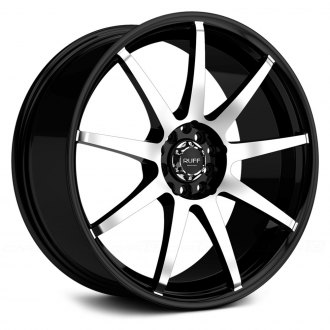RUFF RACING® - R353 Black with Machined Face