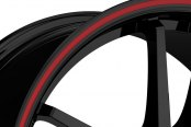 RUFF RACING® - R354 Black with Red Pinstripe Close-Up