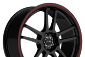 RUFF RACING® - R354 Black with Red Pinstripe