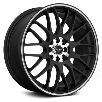 RUFF RACING® - R355 Flat Black with Machined Pinstripe
