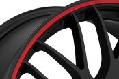 RUFF RACING® - R355 Flat Black with Red Pinstripe Close-Up