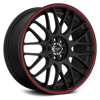 RUFF RACING® - R355 Flat Black with Red Pinstripe