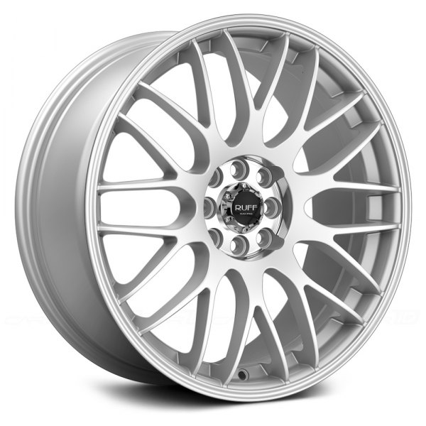 RUFF RACING® - R355 Hyper Silver with Machined Pinstripe