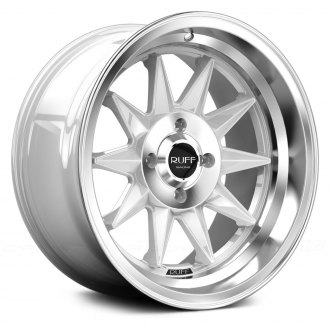 RUFF RACING® - R358 Gloss White with Machined Face and Lip