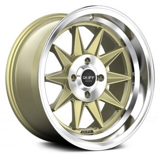 RUFF RACING® - R358 Gold with Machined Center and Lip