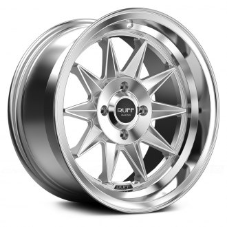RUFF RACING® - R358 Hyper Silver with Machined Center and Lip