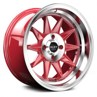 RUFF RACING® - R358 Red with Machined Face and Lip