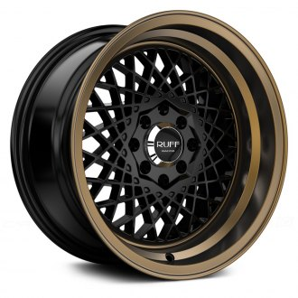 RUFF RACING® - R362 Satin Black with Bronze Lip