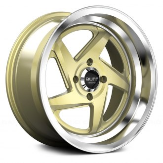 RUFF RACING® - R368 Gold with Machined Center and Lip