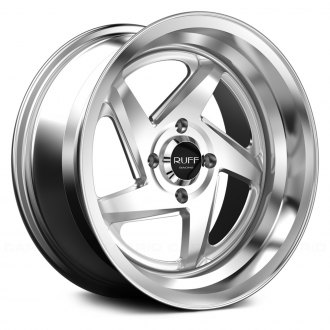 RUFF RACING® - R368 Hyper Silver with Machined Center and Lip