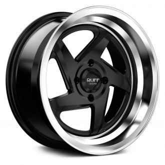RUFF RACING® - R368 Satin Black with Machined Center and Lip