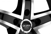 RUFF RACING® - R953 Black with Machined Face and Pinstripe Close-Up
