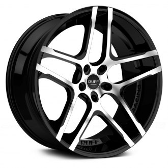 RUFF RACING® - R954 Black with Machined Face