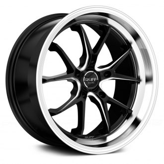 RUFF RACING® - R958 Black with Milled Accents and Machined Lip