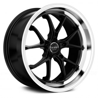 RUFF RACING® - R958 Satin Black with Machined Lip