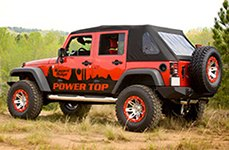RUGGED RIDGE® - 15301 Silver with Red Rim Protector on Jeep Wrangler