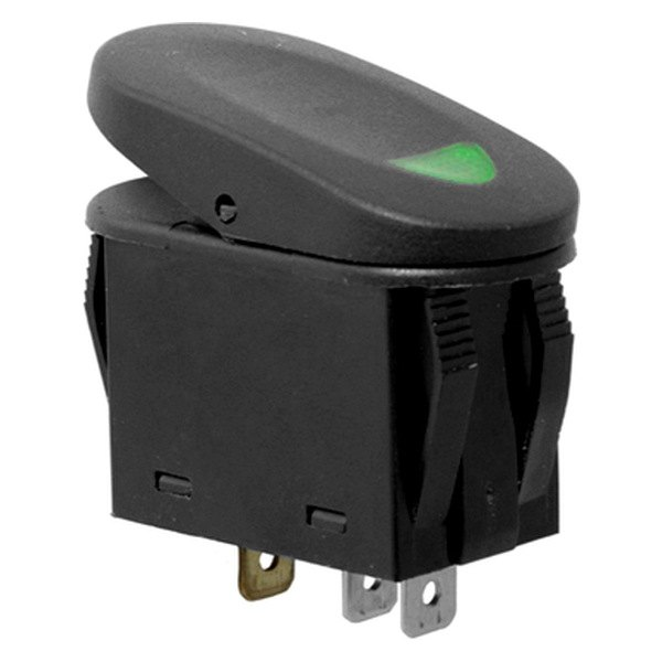 Rugged Ridge® - Two Position Switch, Green Indicator Light
