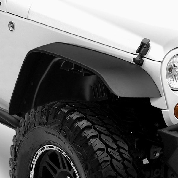 Rugged Ridge® - All Terrain Front and Rear Black Fender Flare Kit