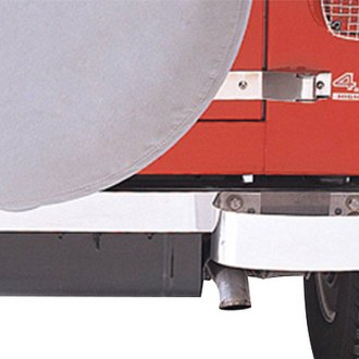 Rugged Ridge® - Rear Bumperettes, Stainless Steel