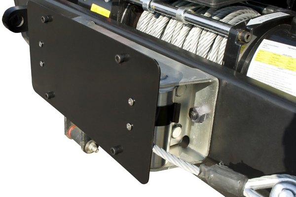 Rugged Ridge® - License Plate Mounting Bracket (Roller Fairlead Mount)