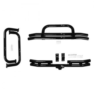 "Rugged Ridge® - 3"" Full Width Black Front and Rear Tubular Bumper and Side Step Kit"