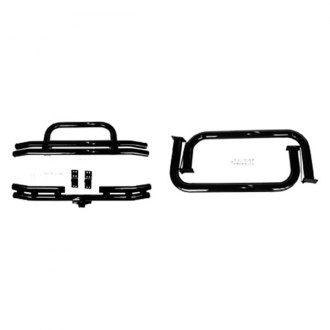 "Rugged Ridge® - Full Width Front and Rear 3"" Tubular Black Bumper and Side Step Kit"