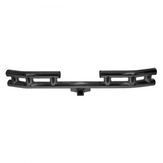 Rugged Ridge® - 3 Tube Rear Bumper (With Frame Mounted Hitch Receiver, Black Powdercoated)